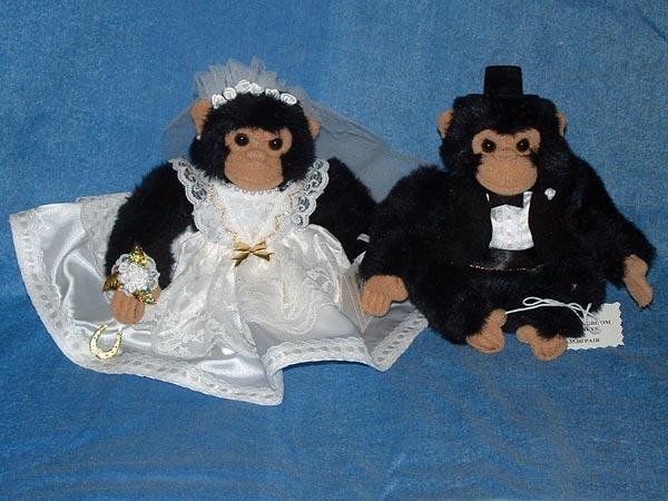 Monkey Bride & Groom
